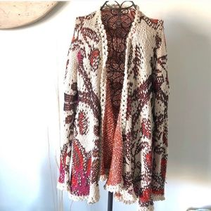 Anthropologie (Moth) Patterned Cardigan/Sweater